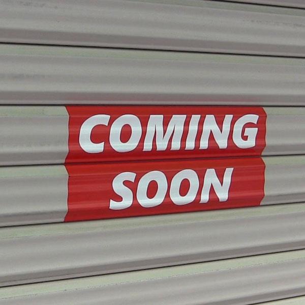 coming soonステッカー販売開始しました。